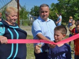 За ініціативи учасника АТО Андрія Стародуба відкрито спортивний майданчик
